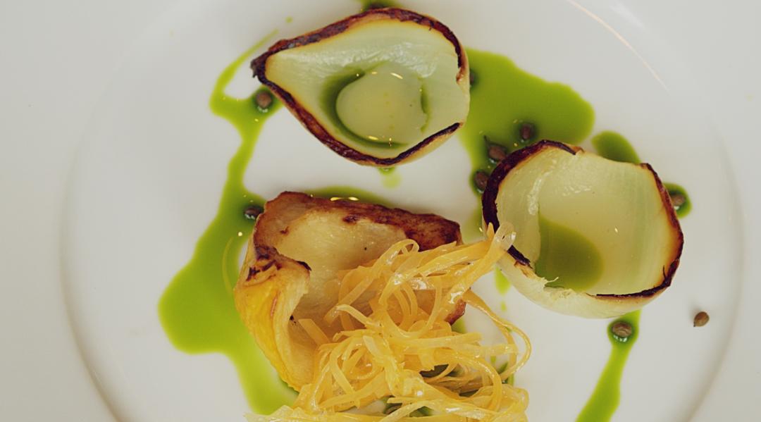 Vegan Squash and Onion Salad at Edinburgh Food Studio