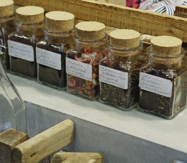 Herbal teas at The Milkman