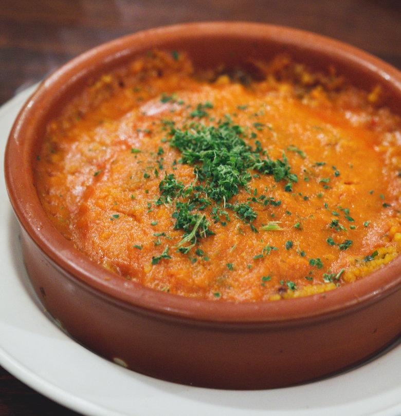 Vegan Berenjena rellendas de pimientos at Cafe Andaluz Edinburgh