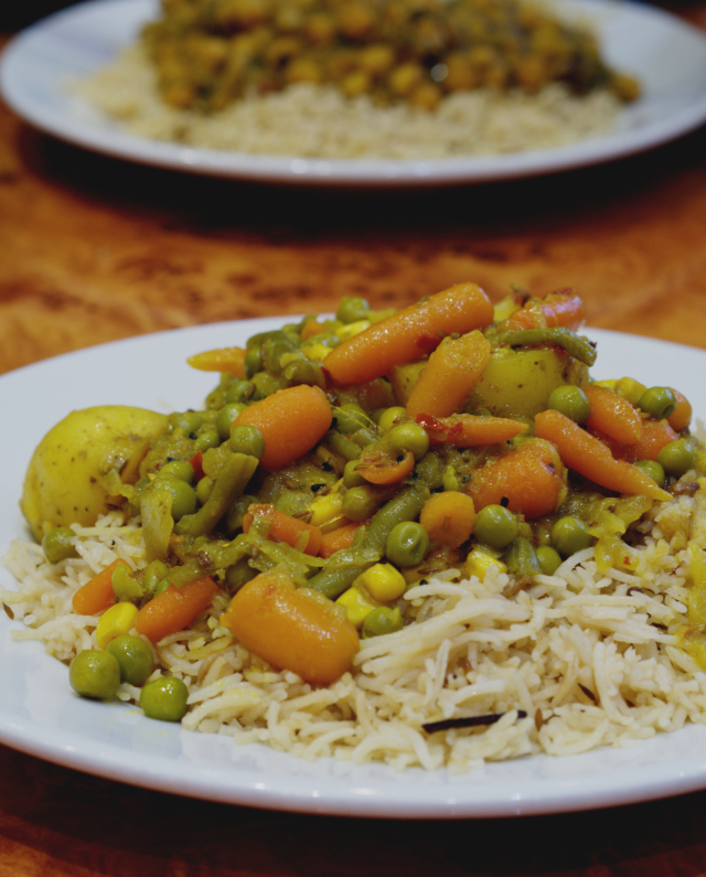 Vegan vegetable curry at The Mosque Kitchen, Edinburgh