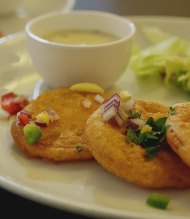 Onion Bhaji at Tanjore Edinburgh