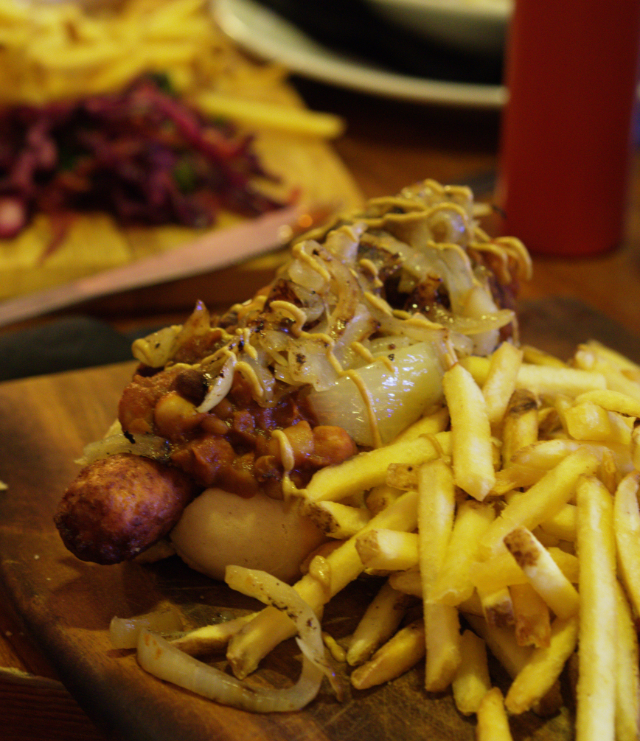 Vegan Chilli Dog at Brass Monkey Leith