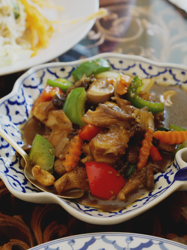 Mushroom stir fry at Phuket Pavilion Edinburgh