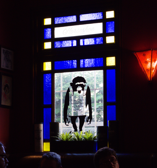 Window at the Brass Monkey Leith