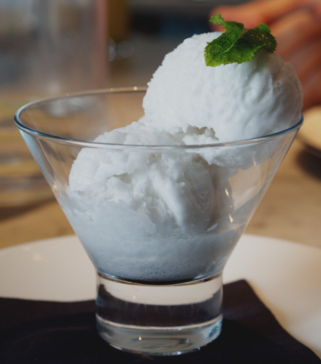 Pizza Express Coconut Sorbet