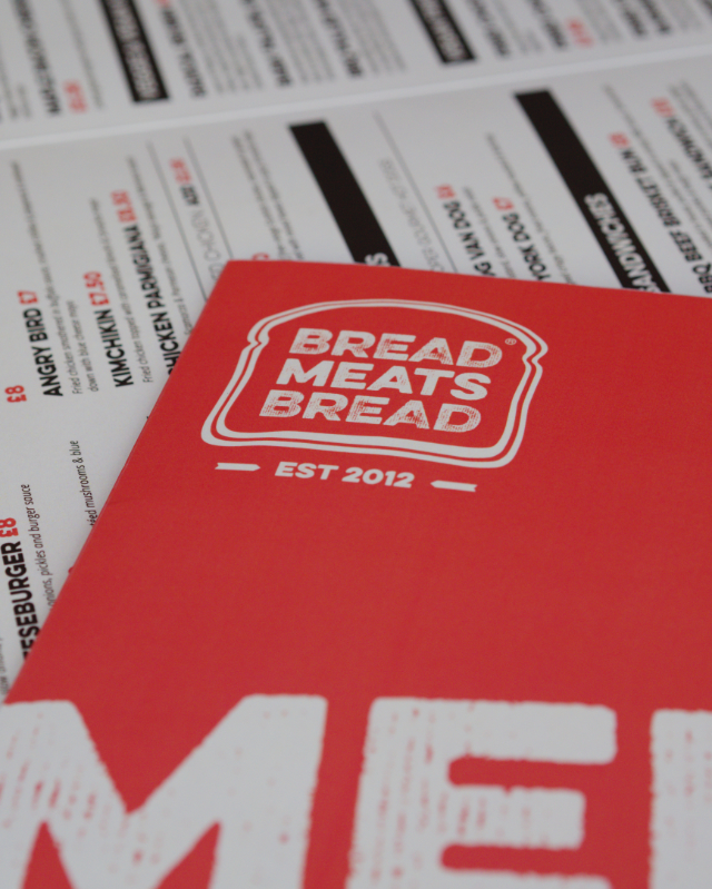 Menu at Bread Meats Bread