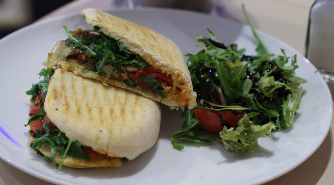 Vegan panini at Tani Modi, Edinburgh