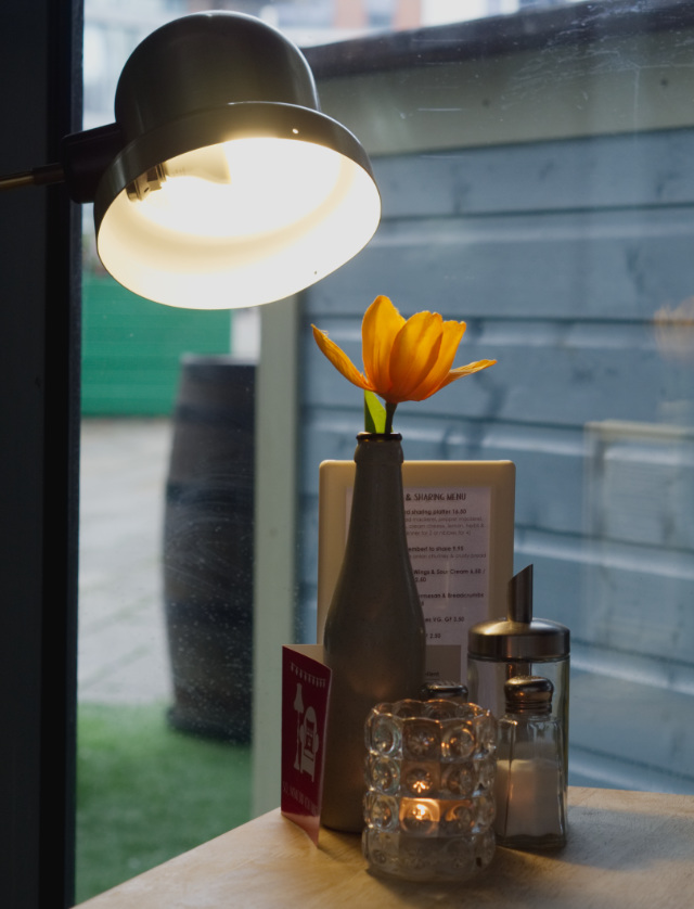 Flower and light at Akva Edinburgh