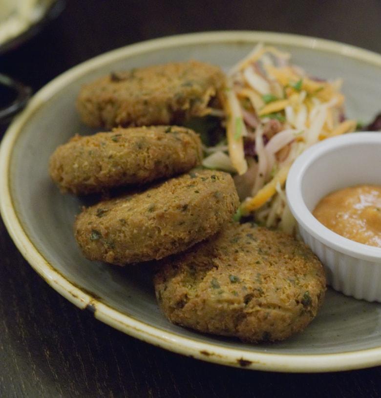 Falafel at Yeni Meze Bar Edinburgh