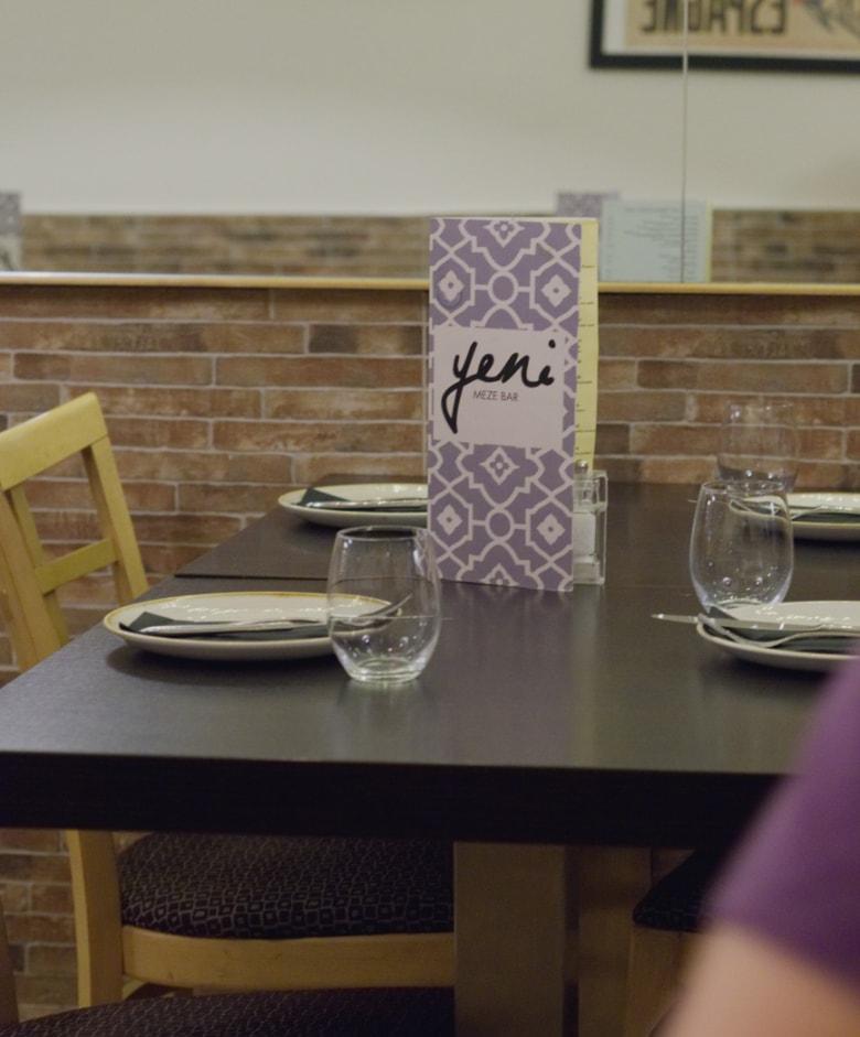 Table at Yeni Meze Bar Edinburgh
