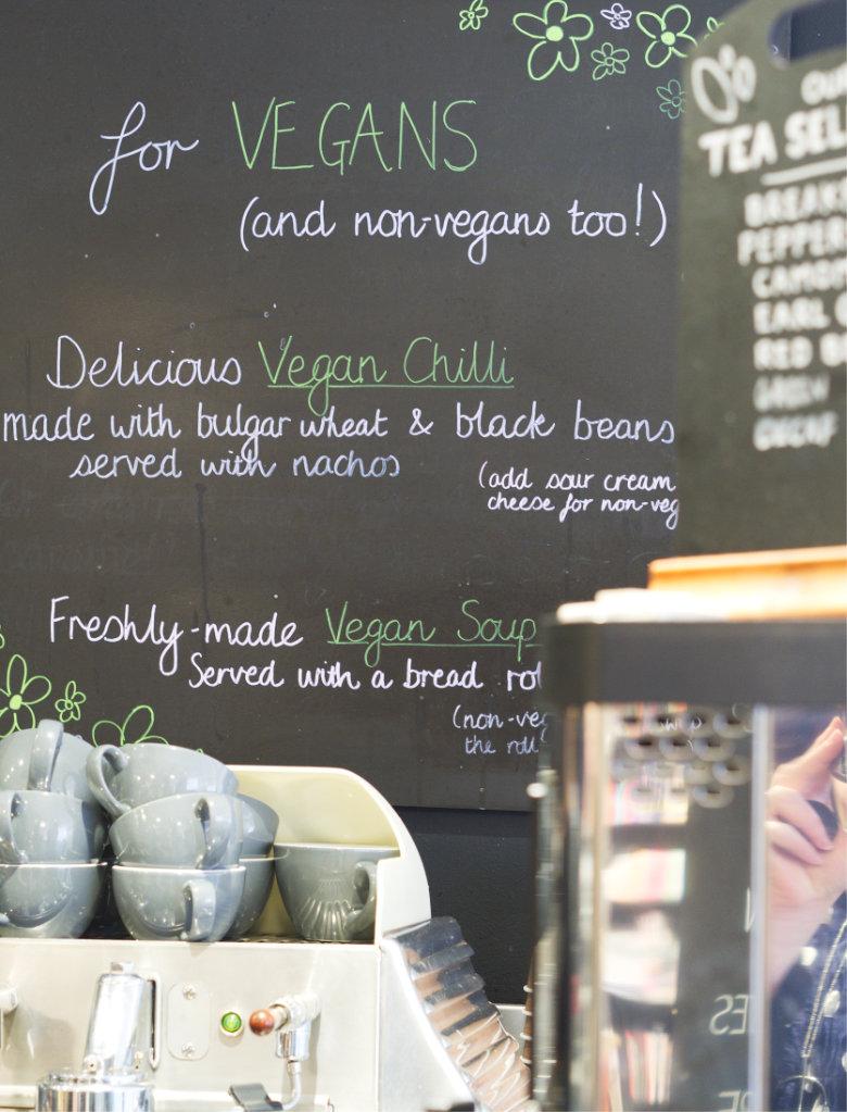 Vegan Menu at Café W Edinburgh