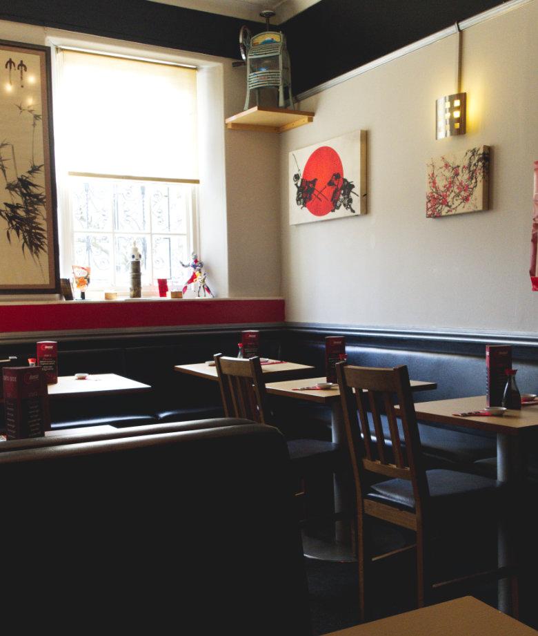 Inside Bonsai Bistro Edinburgh