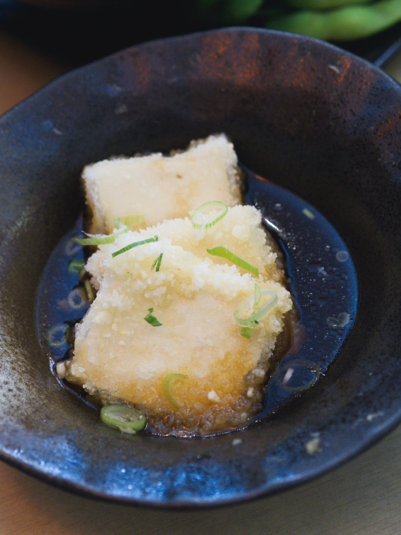 Agedashi tofu at Bonsai Bistro Edinburgh