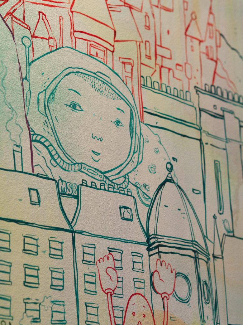 Mural at Soul Sushi Edinburgh