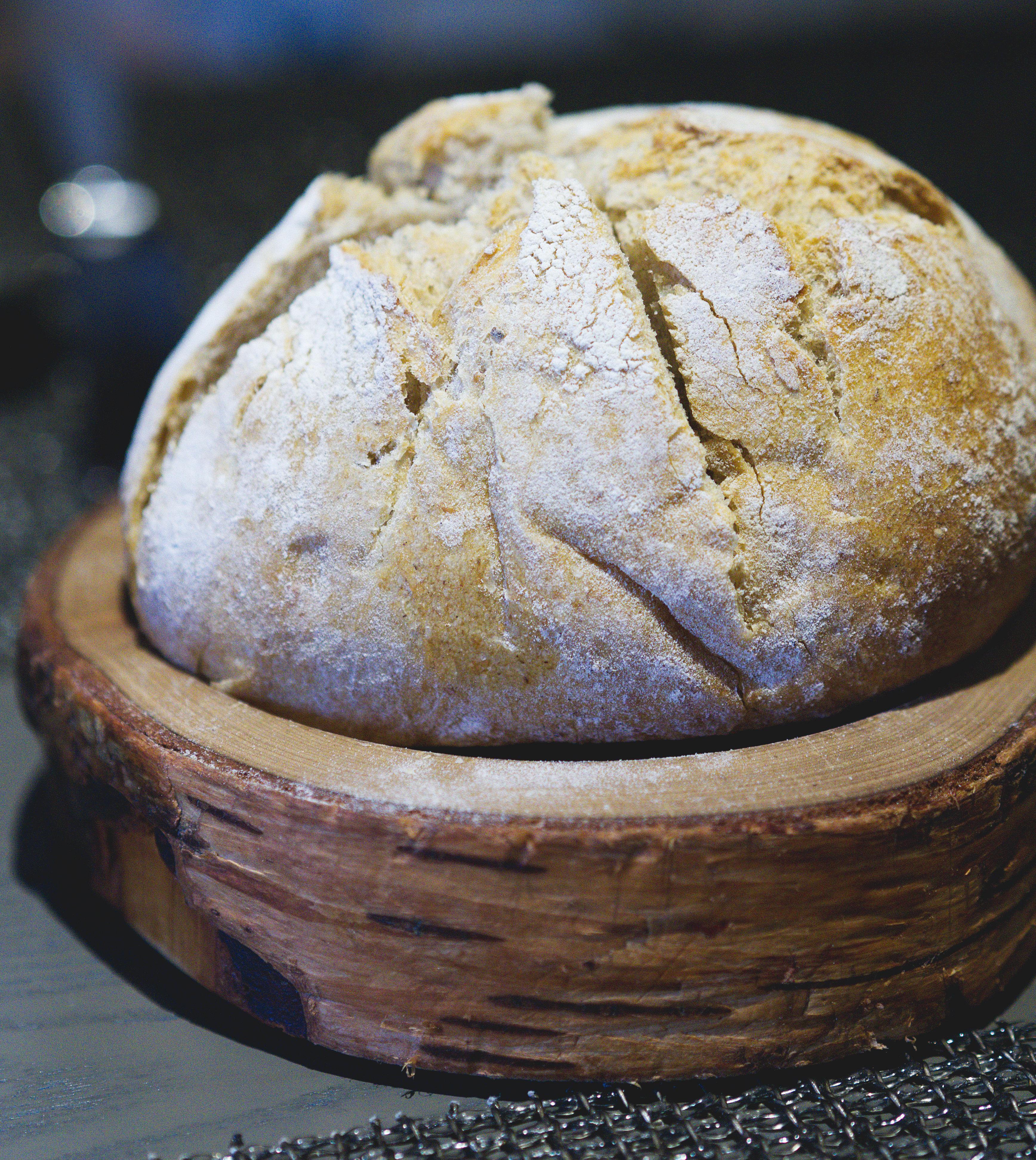 Vegan bread at The Kitchin Edinburgh