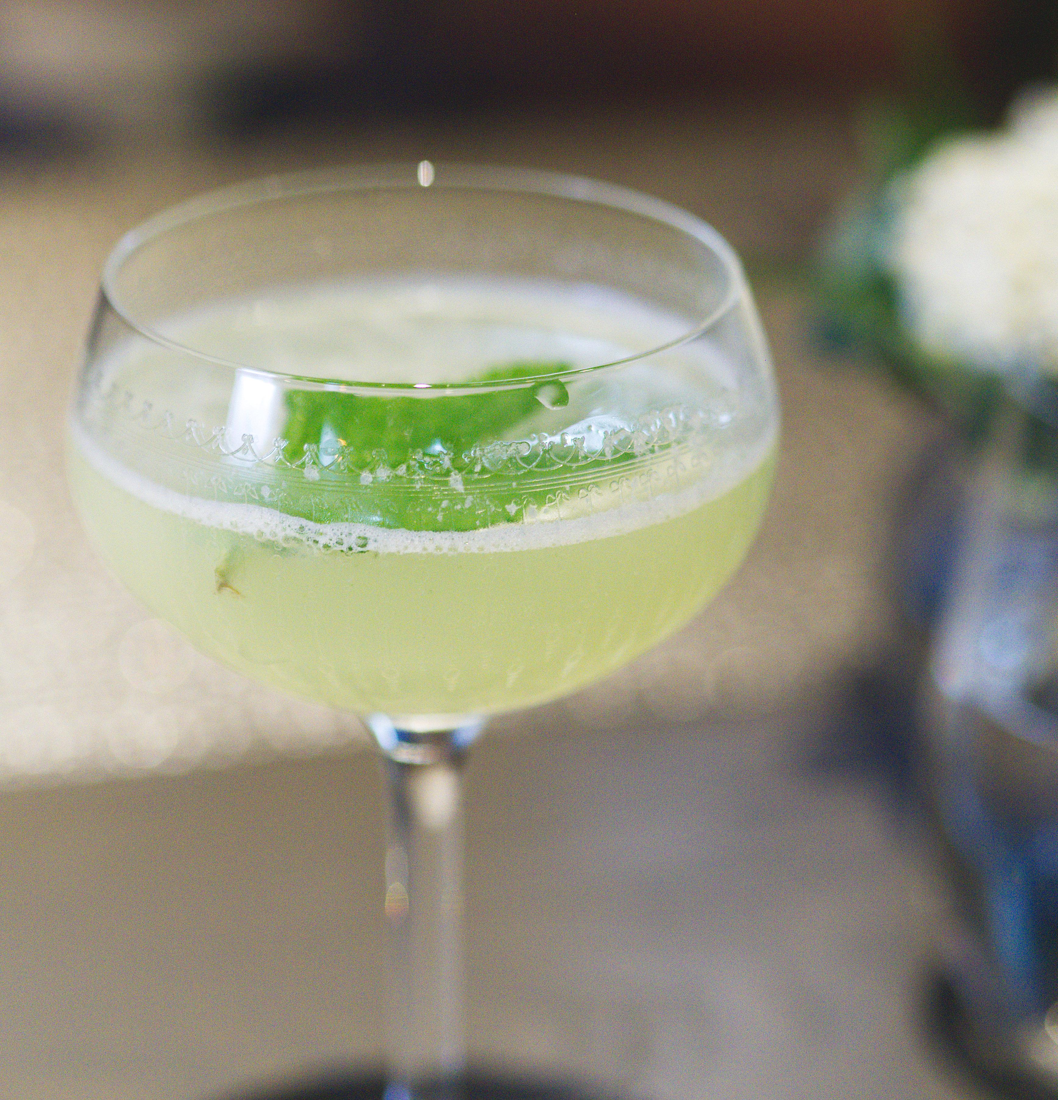 Vegan cocktail at The Kitchin Edinburgh