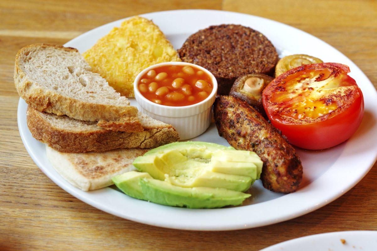 Full vegan breakfast at Wanderlust, Edinburgh