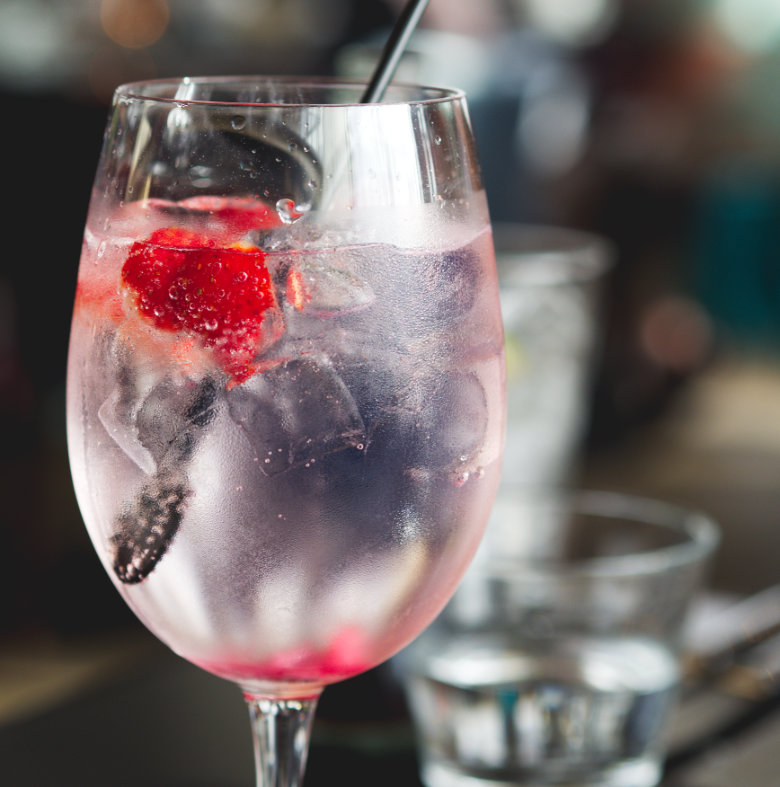 Gin and Tonic at Malmaison, Edinburgh