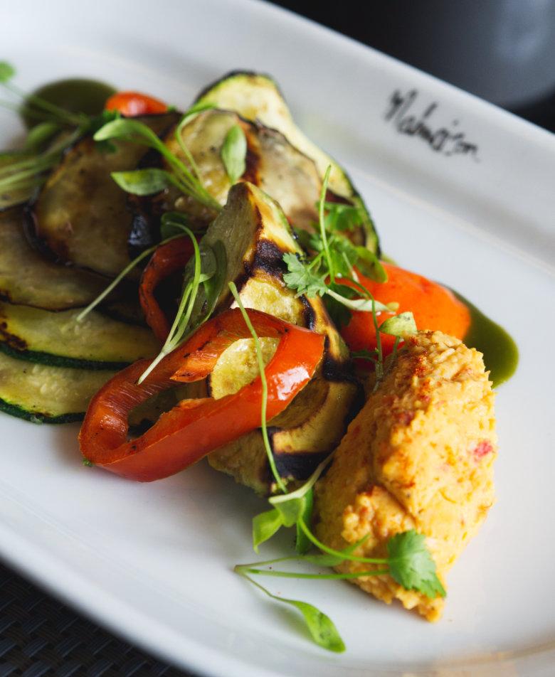 Vegan grilled vegetables at Malmaison Edinburgh