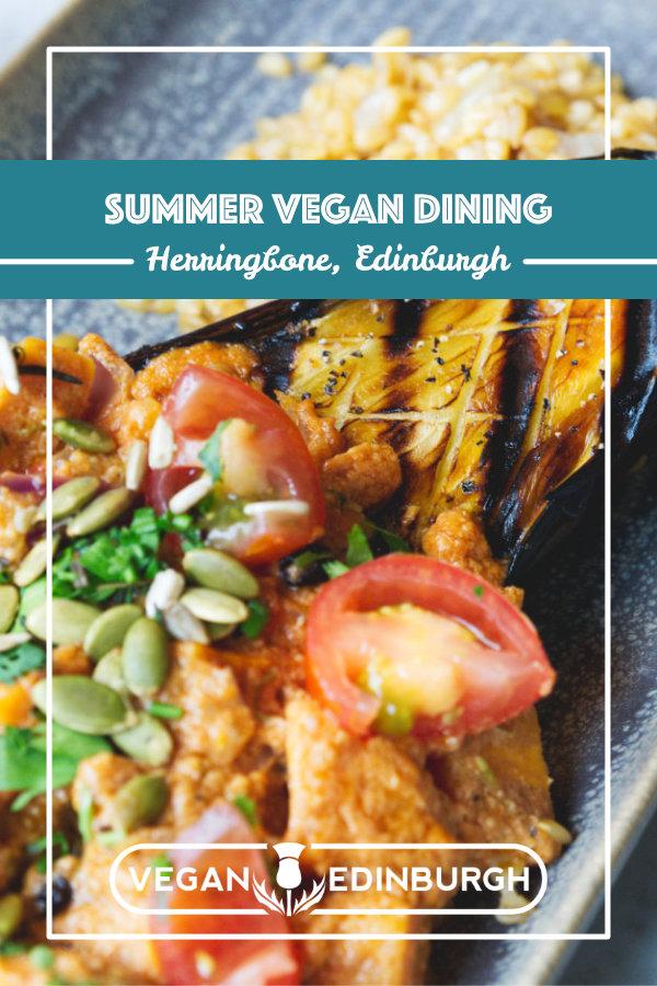 Discover the vegan menu at Herringbone Goldenacre, Edinburgh