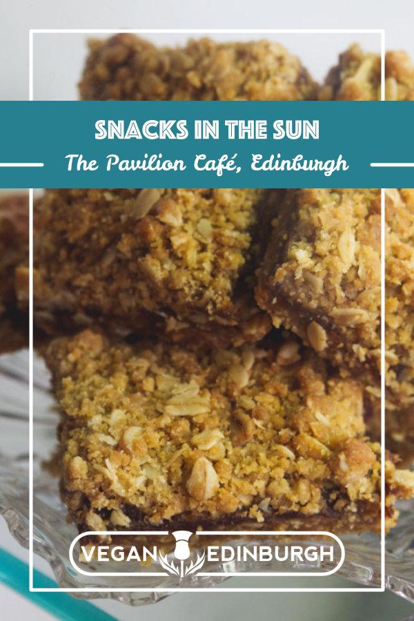 Vegan food at The Pavilion Cafe Edinburgh