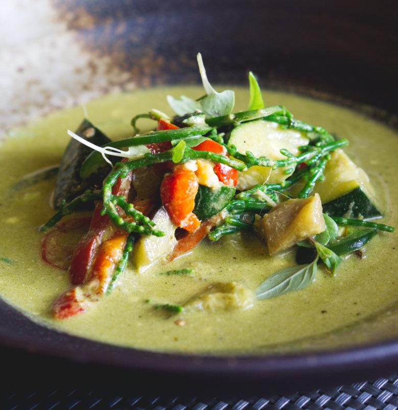 Vegan Thai Green Curry at Malmaison Edinburgh