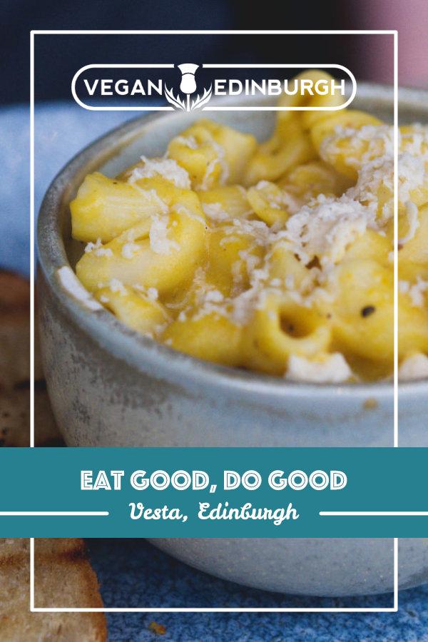 Vegan food at Vesta, Edinburgh