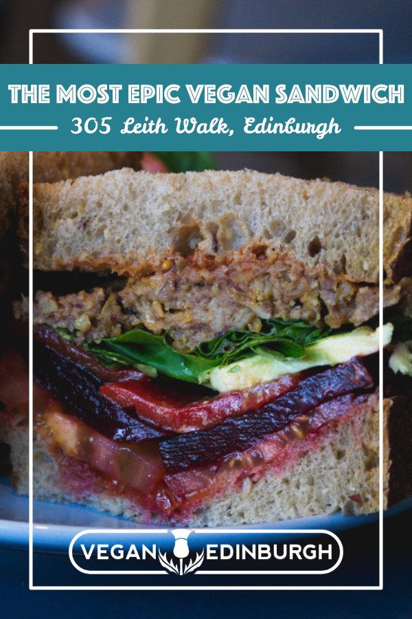 Vegan food at 305 Kitchen, Edinburgh