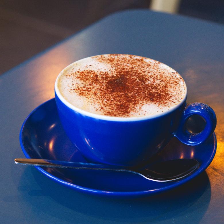 Oat milk cappuccino at 305 Kitchen, Edinburgh