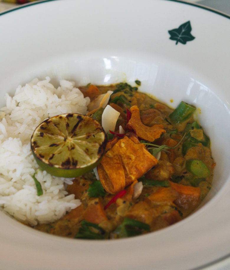 Vegan Keralan curry at Ivy on the Square, Edinburgh