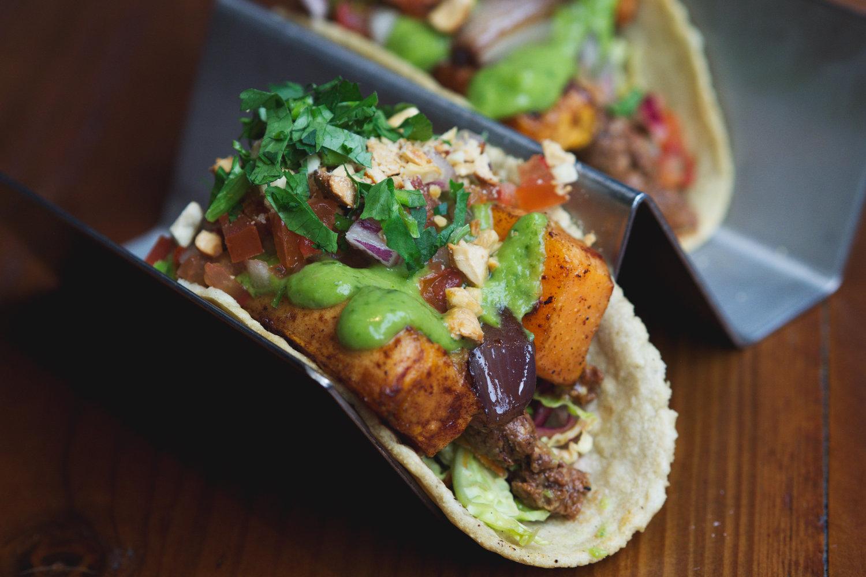 Vegan Taco de camote at El Cartel, Edinburgh