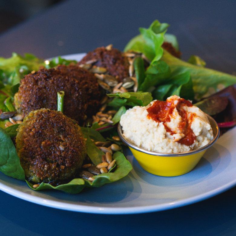 Vegan falafel at 305 Kitchen, Edinburgh
