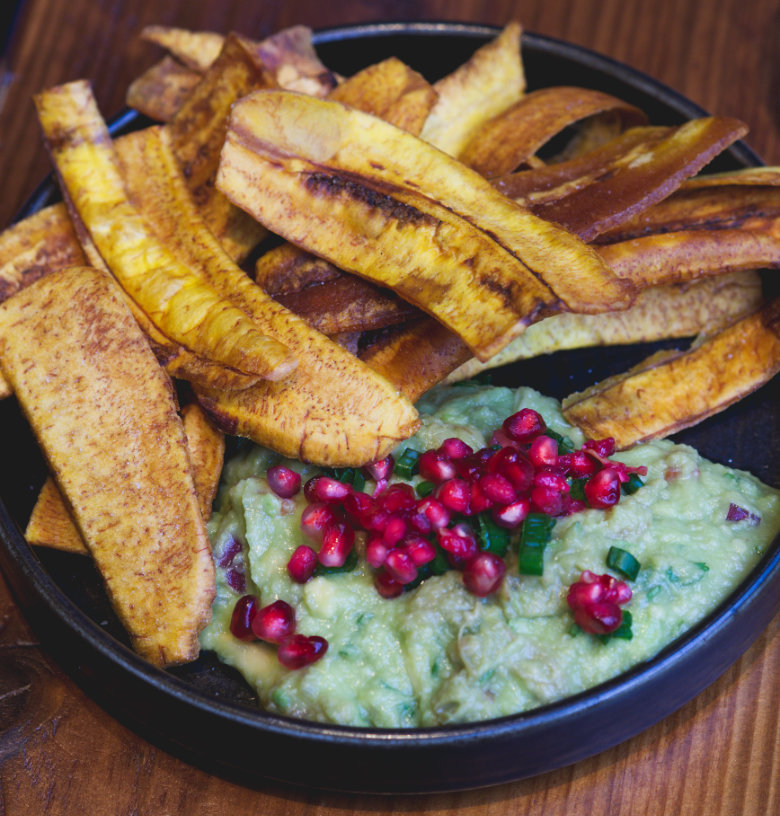 Vegan Guacamole and Plantain at El Cartel, Edinburgh