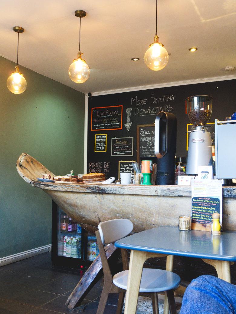 Inside 305 Kitchen, Edinburgh