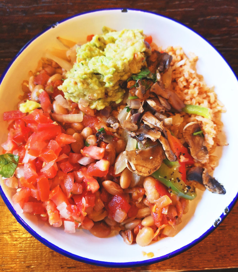 Vegan Naked Burrito Bowl at Barburrito, Edinburgh