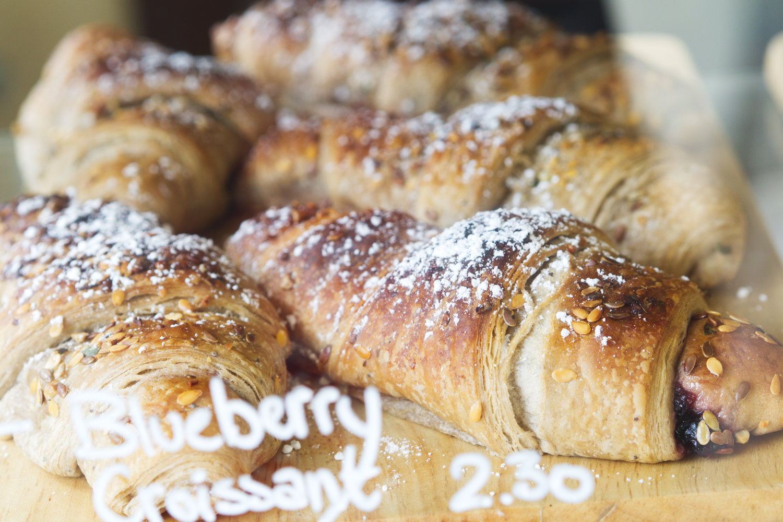 Vegan croissants at Chapter One Edinburgh