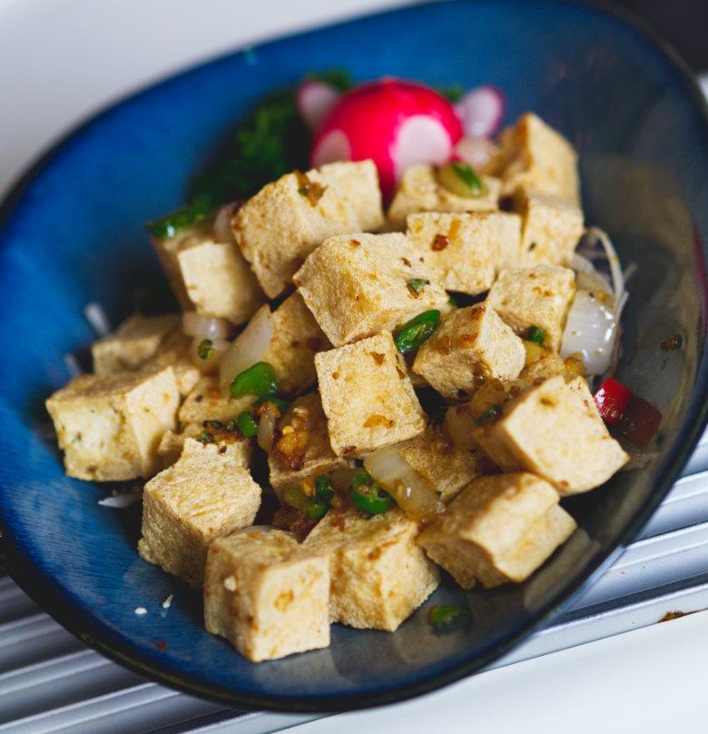 Vegan salt and chilli tofu at Chinese Manor House, Edinburgh