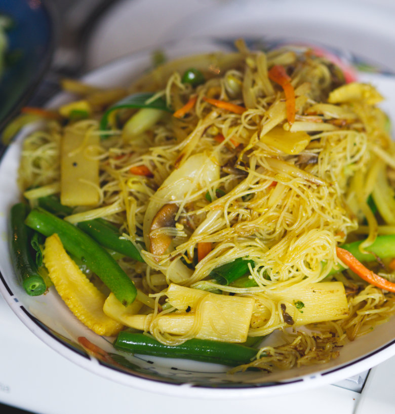 Vegan Singapore Noodles at Chinese Manor House