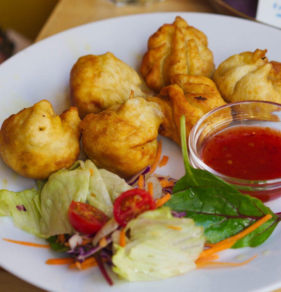 Vegan dumplings at Himalayan Cafe Edinburgh