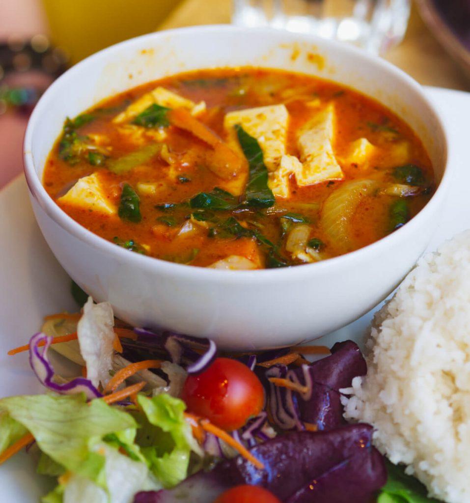 Vegan penang curry at Himalayan Cafe Edinburgh