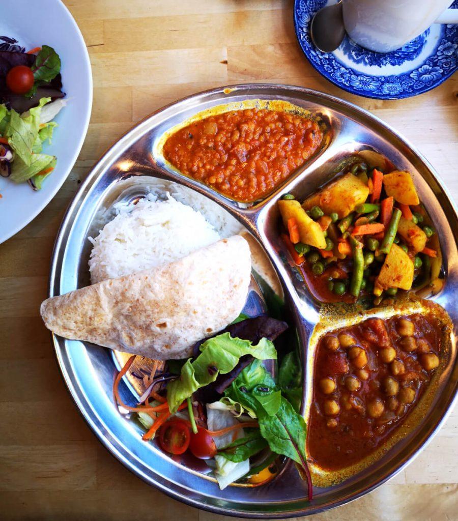 Vegan thali at Himalayan Cafe Edinburgh