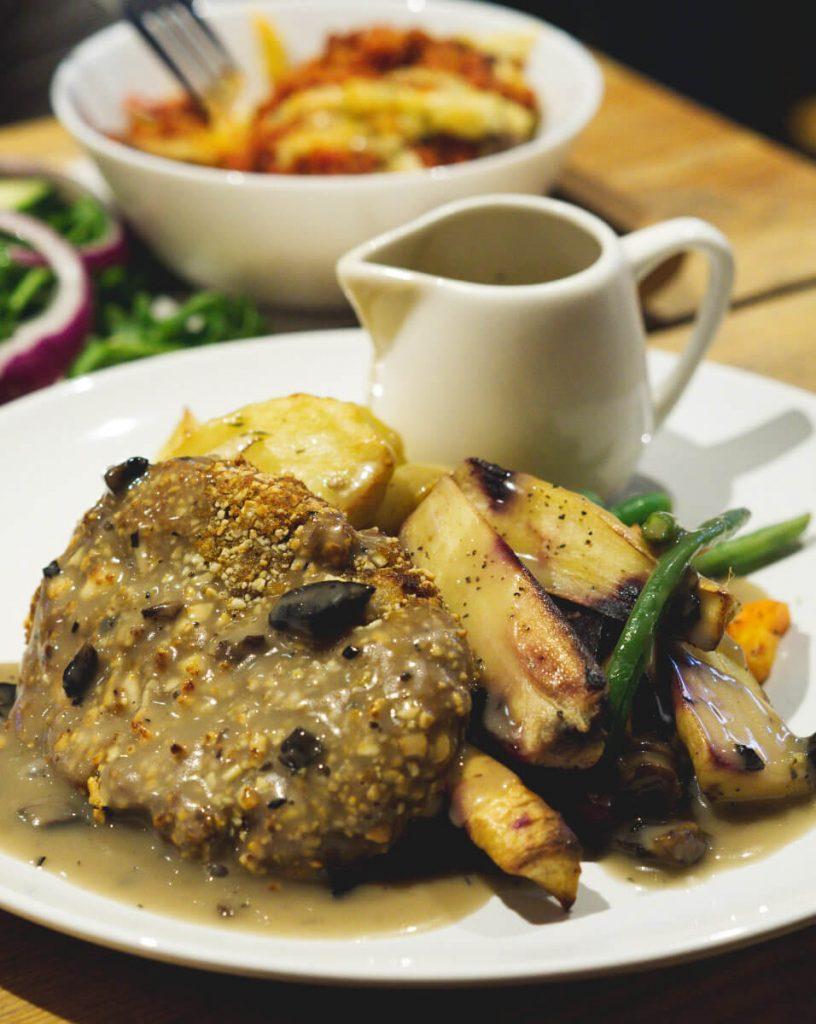 Vegan Roast at Woodland Creatures, Edinburgh