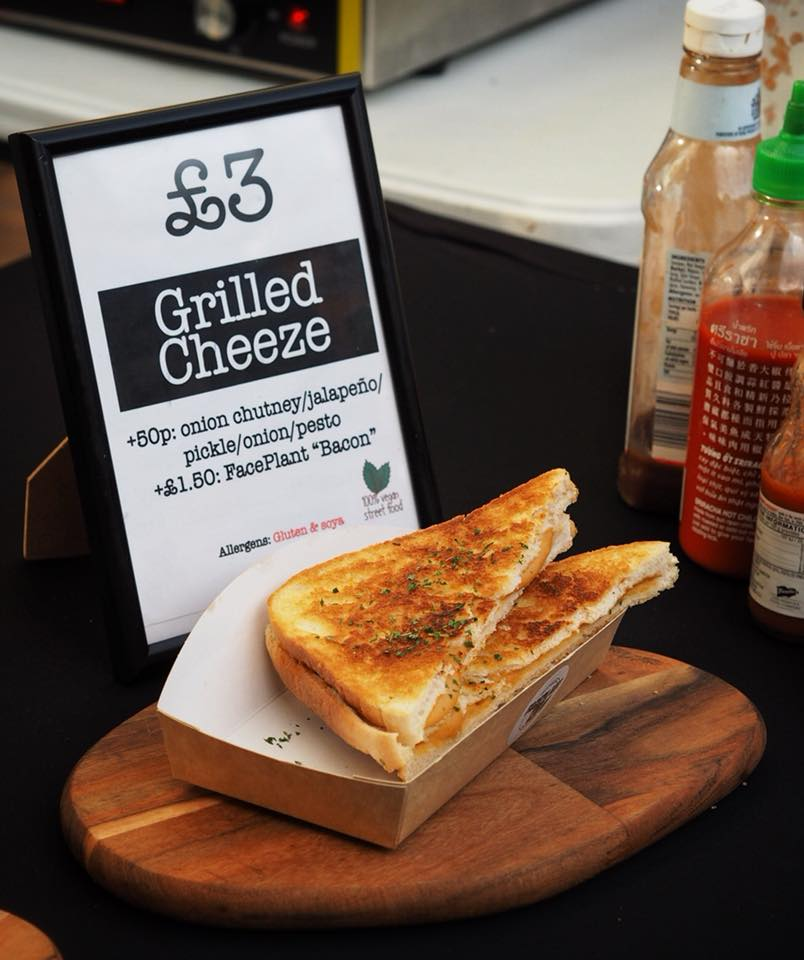 Vegan grilled cheese by Faceplant Foods, Edinburgh