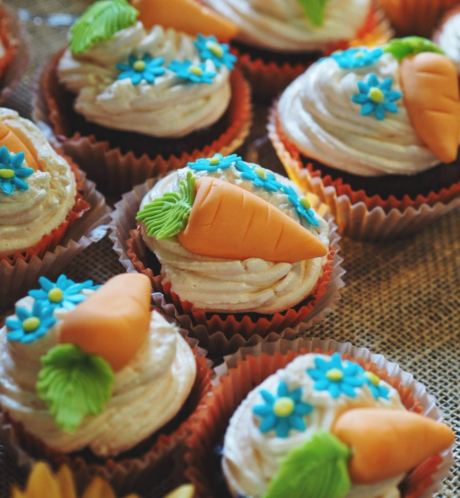 Vegan carrot cupcakes by Mamas Wee Bakery