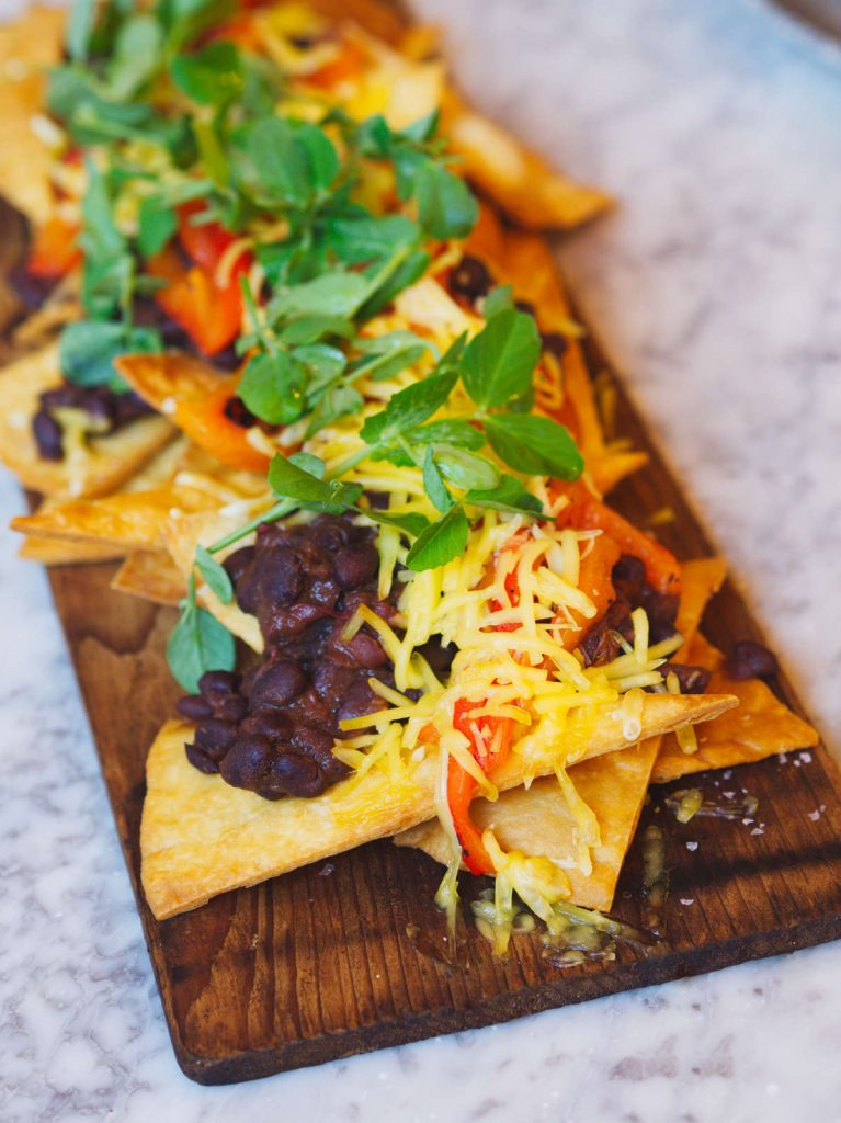 Vegan nachos at Rabble, Edinburgh