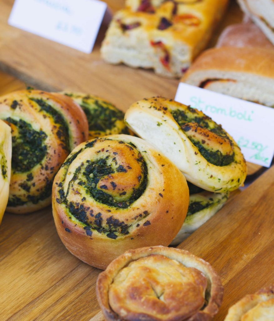 Pesto Swirl by Kama Vegan Bakes at Leith Market, Edinburgh