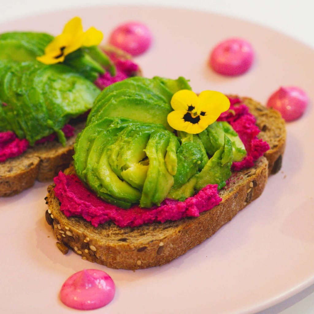 Vegan avocado toast at Naked Bakery, Edinburgh