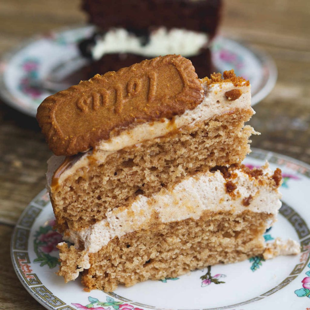 Vegan biscoff cake at Seeds for the Soul, Edinburgh