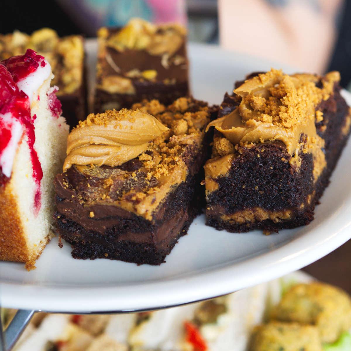 Vegan biscoff cake at Mimi's Bakehouse, Edinburgh