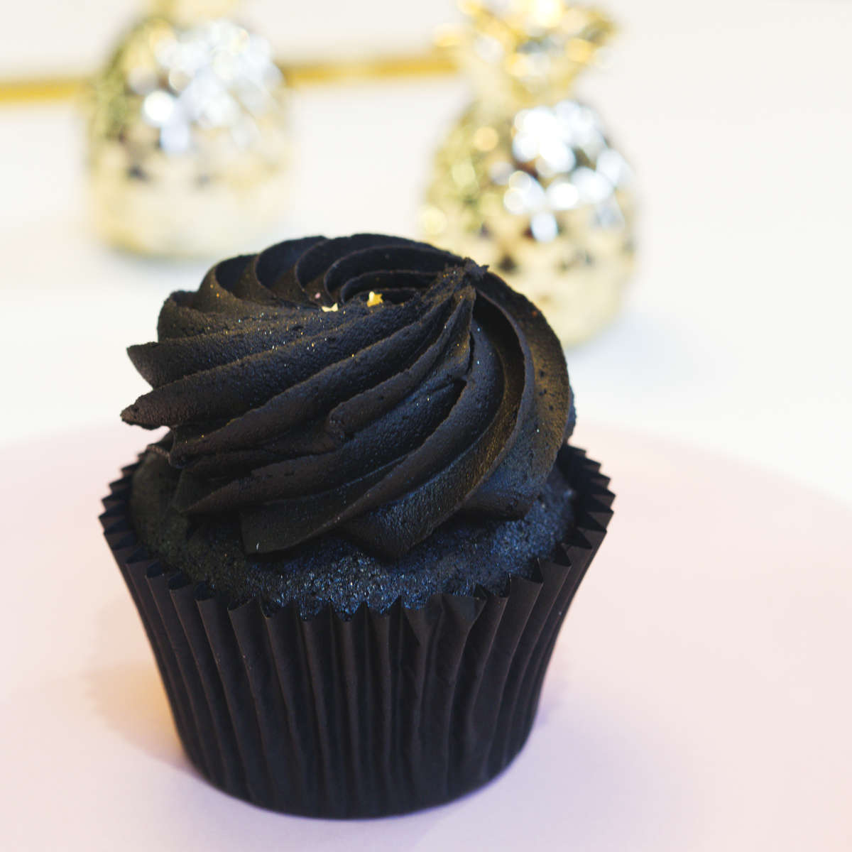 Vegan black velvet cupcake at Naked Bakery, Edinburgh